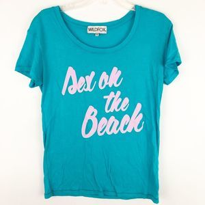 """Wildfox """"sex on the beach"""" graphic t-shirt"""